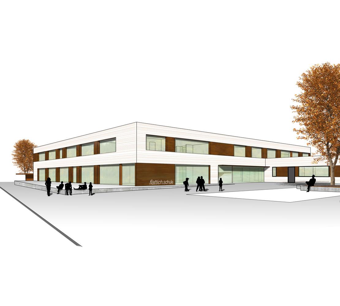 Wettbewerb Neubau Flattich-Schule Mössingen, 2008