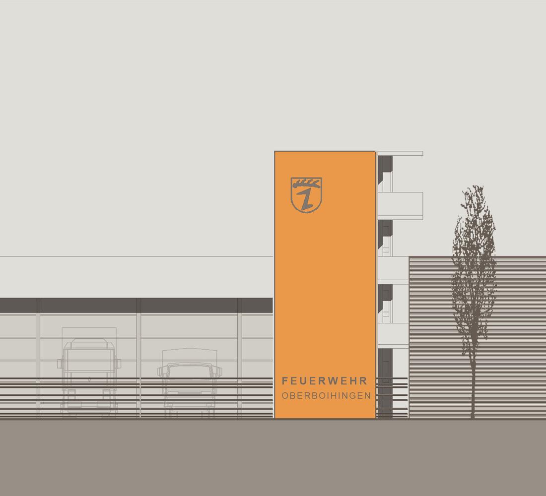 Feuerwehrgebäude Oberboihingen Wettbewerb 2013
