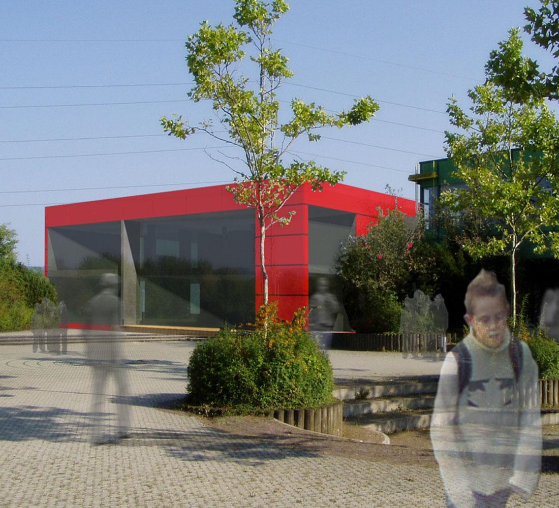 Neubau BZN Mensa mit Mediothek, 1.Platz