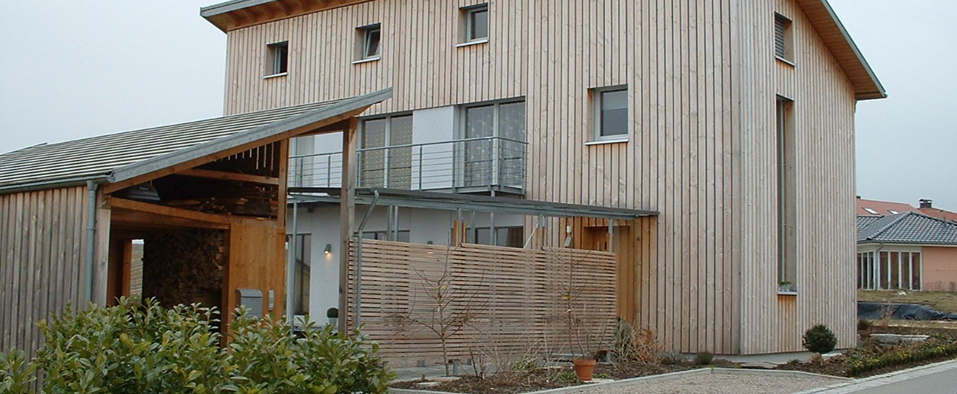 Wohnhaus Holzständerbauweise Eigenleistung