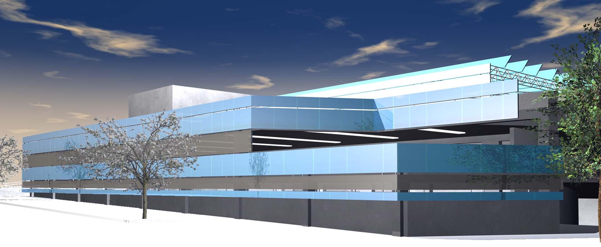 Konzept Parkhaus Bad Wildbad , Konzept 2008, Fassade als Photovolteik