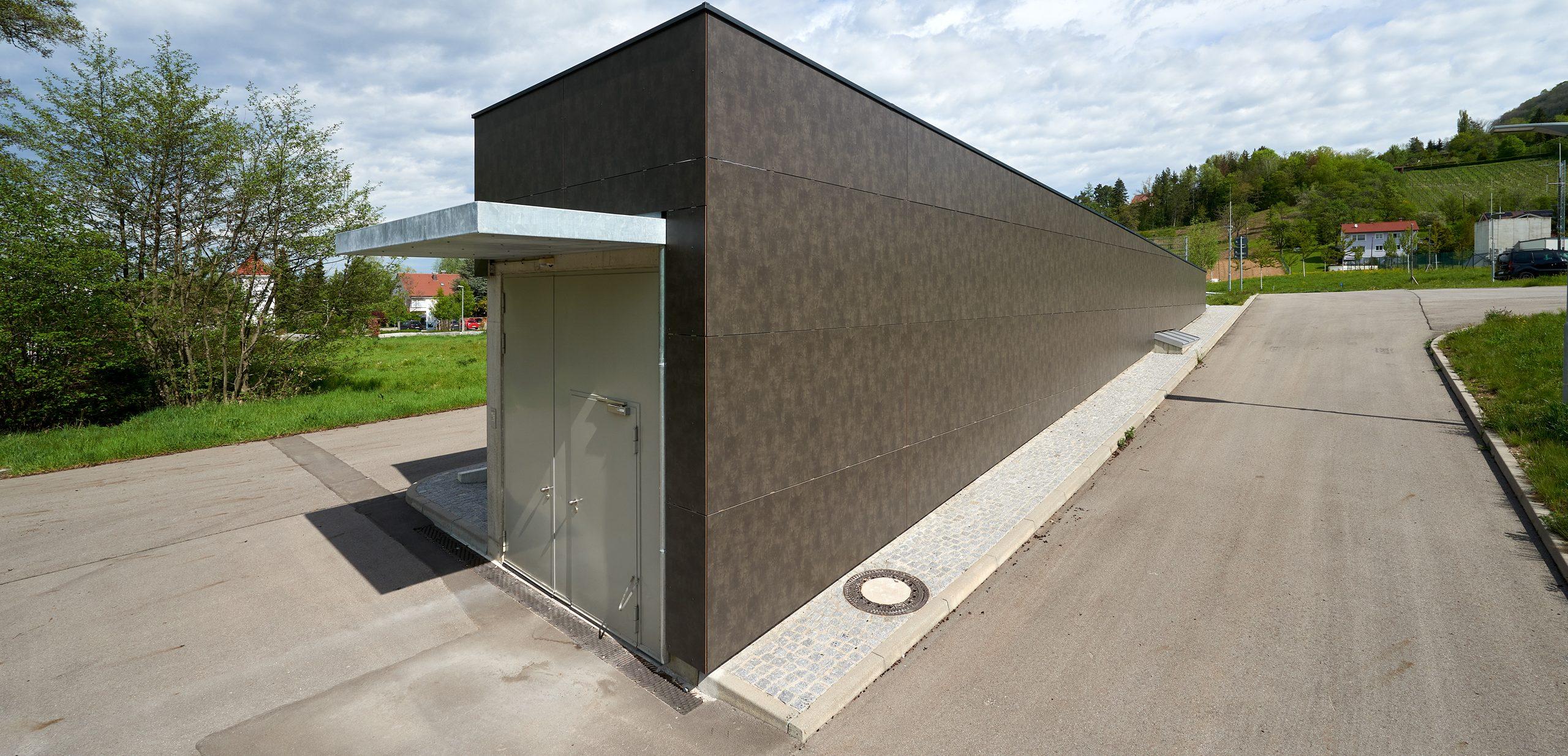 Gestaltung der Fassade eines Rettungstunnels
